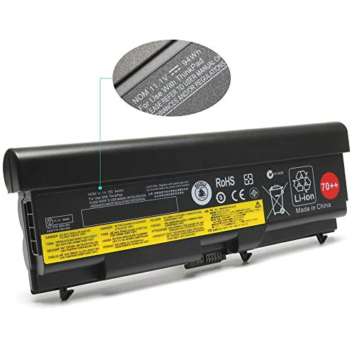 K KYUER 94Wh 70++ Laptop Battery Replacement for Lenovo ThinkPad T430 T430I T530 T530I W530 L430 L530 45N1000 45N1001 45N1003 45N1004 45N1005 45N1106 45N1107 45N1010 45N1011 45N1013 0A36303 0A36302