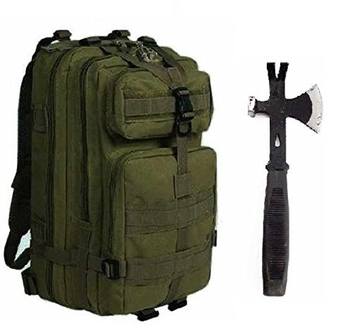 Ultimate Arms Gear Surviaval Combo: 13' Tactical 3 in 1 Mulit-Use Emergency Supply Tool Chop Hatchet...