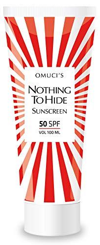 Nothing To Hide de Omuci's SPF 50, 100ml