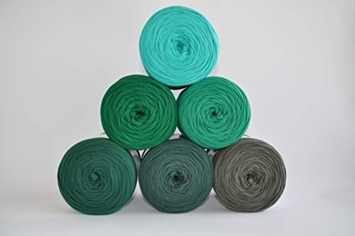 Textilgarn Baumwollegarn Stoffgarn Grün 650g, 120m für Taschen, Körbe, Utensilo, Teppiche (lichtgrün)