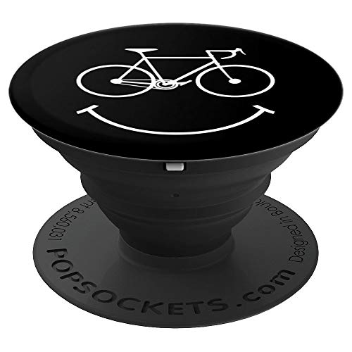 Funny Cycling Biking Bicycle Cyclist Bike Themed Smile Gift PopSockets Grip and Stand for Phones and Tablets