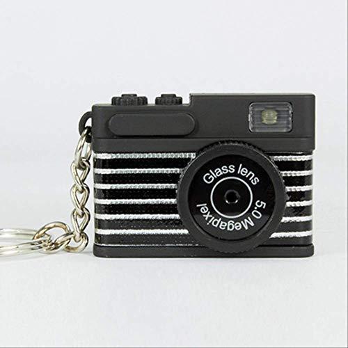 MEIHEK Schlüsselanhänger Kamera Schlüsselanhänger - Kreative Mini Kamera Schlüsselanhänger Auto Schlüsselanhänger Schlüsselanhänger für Männer Frauen Geschenk Schlüsselanhänger Schmuck K1002 Schwarz