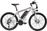Bicicleta eléctrica de nieve, 26 '' de gran capacidad (48V 350W 10Ah) 35 Millas de Alcance y frenos de doble disco eléctrico bicicleta de montaña sin escobillas del motor de engranajes de aleación de