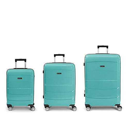GABOL Set 3 Maletas C-M-L, Adultos Unisex, Azul (Azul), Talla Única