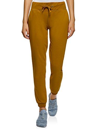 oodji Ultra Damen Sport-Hose mit Bindebändern, Gelb, XXS