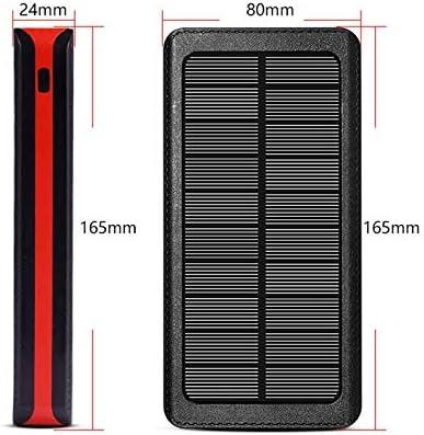 Banco de energ/ía Solar a Prueba de Agua 50000mAh bater/ía Externa port/átil Huawei Tablet y Otros Dispositivos USB Samsung Compatible con iPhone Cargador r/ápido inal/ámbrico Qi