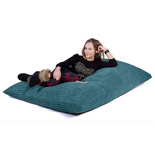 Lounge Pug®, Riesen Sitzsack XXL, Sitzkissen, Cord Türkis - 5
