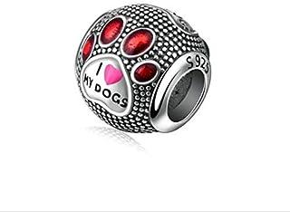 7ac63f4cc356 Amazon.fr : chien - Charms et perles / Charms et breloques : Bijoux