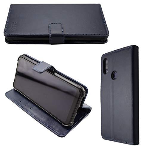 caseroxx Handy Hülle Tasche kompatibel mit Gigaset GS190 Bookstyle-Hülle Wallet Hülle in blau