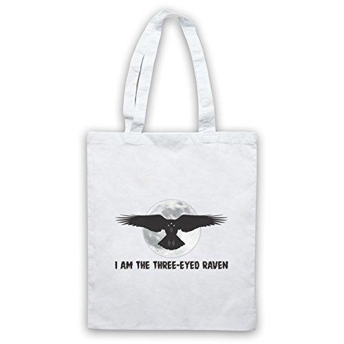 Game Of Thrones I Am The Three Eyed Raven Umhangetaschen, Weis