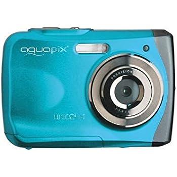 """EasyPix W1024 Splash Digitalkamera, wasserdicht 3m, CMOS 10MP, 2,4""""LCD, blau"""