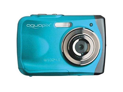"""Easypix Aquapix W1024 - Cámara compacta digital (10 MP, 2.4"""", zoom digital 4x, VGA), color azul"""