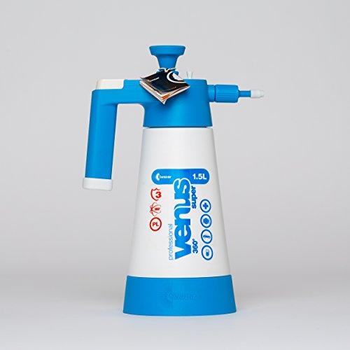 Drucksprüher Sprüher Sprayer Pumpsprüher mit druckablass Ventil Kwazar Venus 360° Viton Dichtung 1,5 L