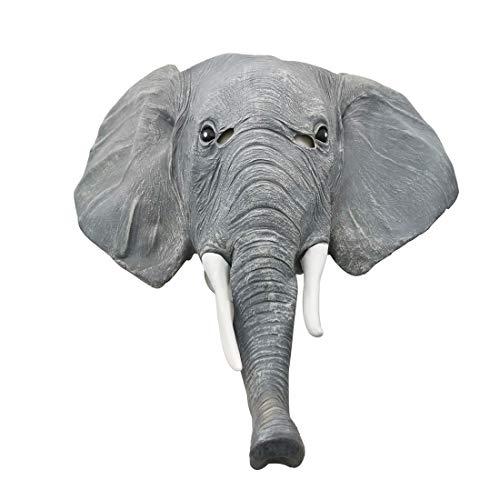 Story of life Máscara De Elefante, Látex Máscaras De Animales De Halloween Máscaras De Cabeza De Elefante Máscara De Fiesta De Disfraces para Adultos