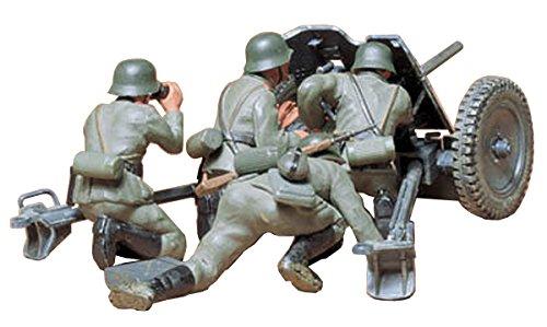 Tamiya 300035035 - 1:35 WWII Deutsche Pak 35/36 mit Figuren (4), Panzerabwehrkanone, 3.7cm