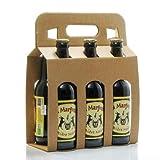 Pack de 6 bières noires artisanales du Périgord Brasserie Margoutie 33cl x 6 soit 198cl