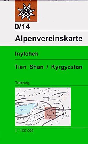 Inylchek - Tienschan-West /Kyrgyzstan: Trekkingkarte 1:100000 (Alpenvereinskarten)