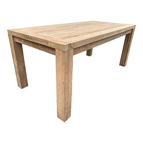 dasmöbelwerk dasmöbelwerk Teak Esstisch massiv Teakholz Tisch Garten Esszimmer 180 x 90 cm