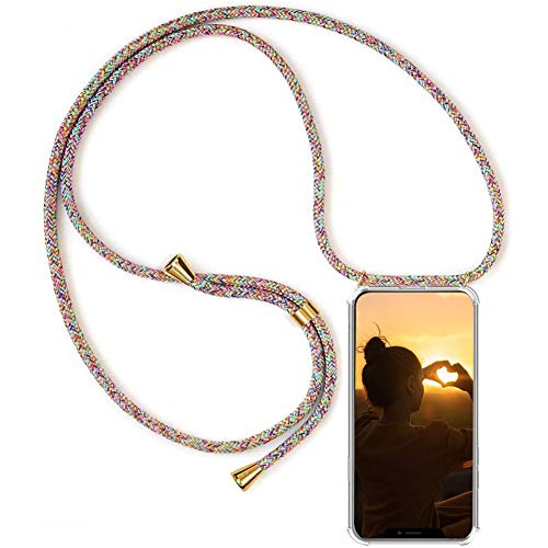 MXKOCO Funda con Cuerda para Motorola Moto G9/G9 Play Core Carcasa de movil con Cuerda para Colgar-Funda con Correa para Hombro y Cordón Colgante/Carcasa Banda con Cordon para Llevar en el Cuello