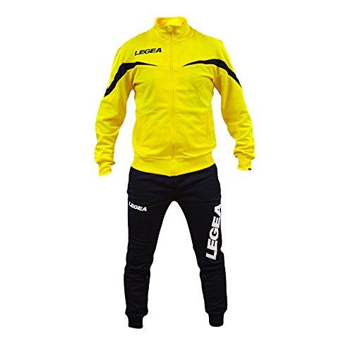 Perseo Sport Tuta Legea Mosca T122 Uomo Allenamento Fitness Calcio Tempo Libero Vari Colori e TG … (L, Giallo/Blu)