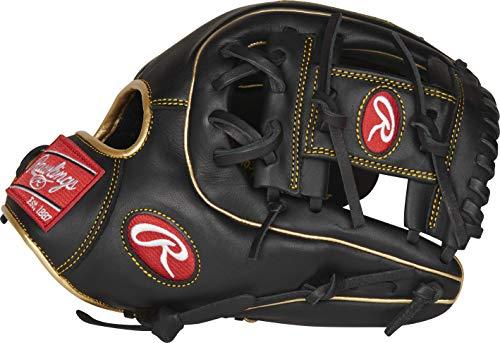 Rawlings Jungen R9314-2BG-3/0 Baseball-Handschuh, 29,2 cm – 31 Muster – Schwarz/Gold, 11.5 inch