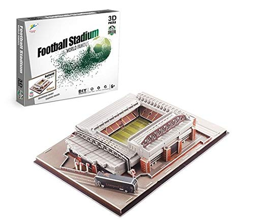 cfmour 3D Puzzles,Football Field Model, 3D Jigsaw Puzzles for Adults and Kid,DIY 3D Building Model, Bedroom, Office Decoration,Anfield Stadium 165 PCS