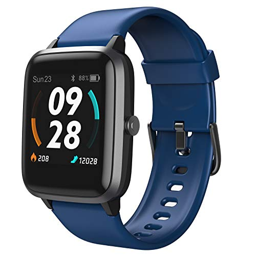 LETSCOM Smart Watch, GPS Running Watch Fitness Trackers with Heart Rate...