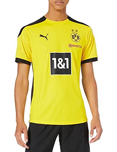 PUMA Herren T-Shirt BVB Training Jersey New, Cyber Yellow-Puma Black, M, 931127