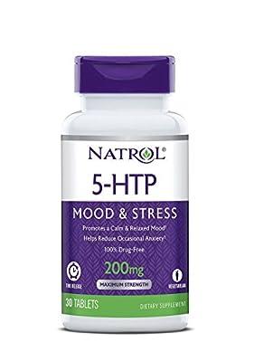 Natrol: 5-HTP Time Release 200 mg, 30 tabs (2 Pack)