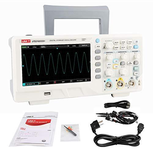 UNI-T UTD2102CEX+ Alta precisión 100 MHz Escritorio Digital Almacenamiento Osciloscopio para laboratorio y Electrónico Reparar Forma de onda Ensayador
