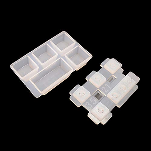 YU-NIYUT Silicone Resin Keycaps Mold Compatible with C.h.e.r.r.y M.X Mechanical Gaming Keyboard, Pet Paw Shape, Epoxy Resin Molds for DIY Craft Making and Computer PC Gamer