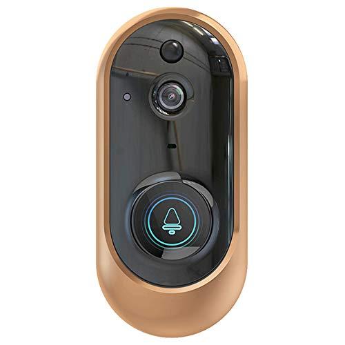 HOUSEHOLD Timbre de 1080P HD, Timbre de Video inalámbrico WiFi, Timbre Inteligente de Baja Potencia, Adecuado para el hogar, Empresa