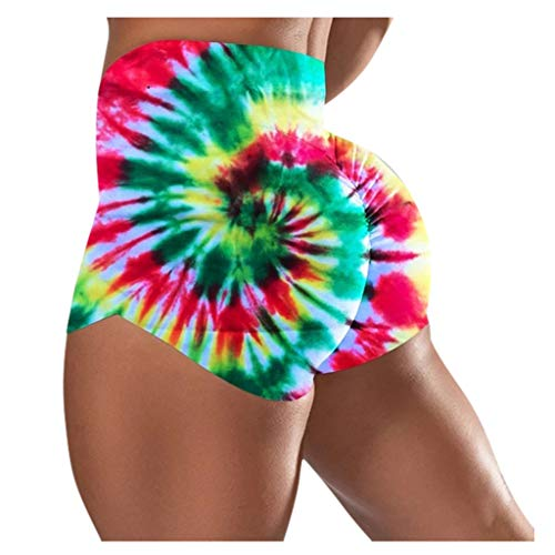 Leggings Yoga Shorts Capri Femmes Basique Slip Bike Shorts Compression Workout (XL,3Rouge)