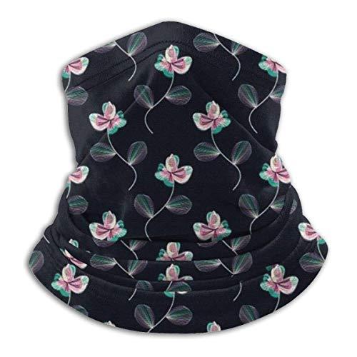 ShiHaiYunBai Tour de Cou Cagoule Microfibre Chapeaux Tube Masque Visage, Floral Fleece Neck Warmer - Reversible Neck Gaiter Tube, Versatility Ear Warmer Headband & For Men And Women