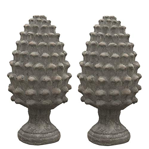 2 mooie dennenappels terracotta 39 cm x Ø16 cm