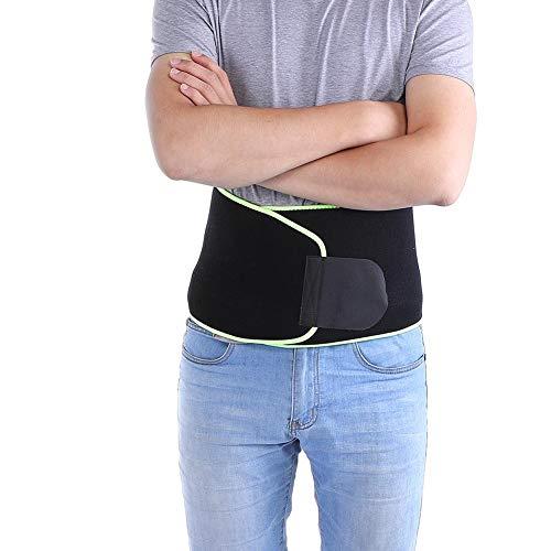 Tihebeyan Verstellbare Taillenstütze, Kompression Sport Taille Lordosenstütze Schutzgurt für Gewichtheben Workout Laufen Tanzen(L-Grün)