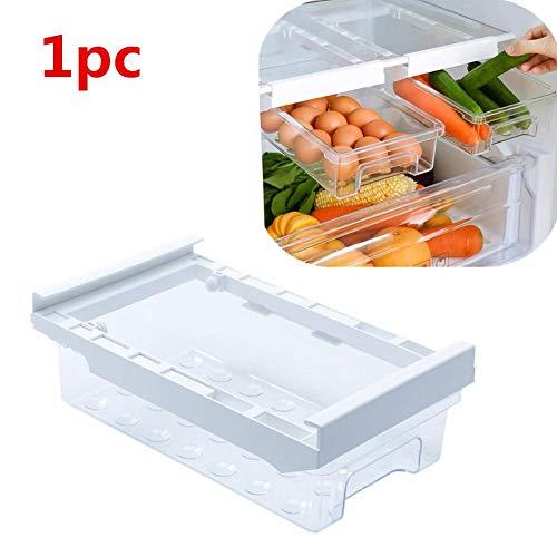 Yunhigh-uk NEU Kühlschrank Organizer Schublade Transparent, Kühlschrank Organizer Langlebiger Korb Behälter unter dem Regal für Eier Obst Gemüse, zusätzlichen Platz im Kühlschrank (1 Stück)