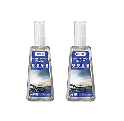 Brillen-Antibeschlag- Hilft gegen Beschlagene Brille-2pc Spray 60 ml Antibeschlagmittel -Auto-Innenraum, Glas, Fenster, Windschutzscheibe, Antibeschlag, Defogger Linsen, Schwimmbrillen, Skibrillen