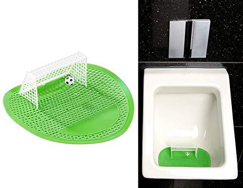 PEARL Urinal Spiele: Lustiges Fußball-Urinal-Sieb, 18,5 x 19,5 cm, universell passend (Scherzartikel Pissoir Einlagen)