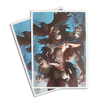 Morgan, Raven Necromancer - 100 Matte Card Sleeves (FN2S)