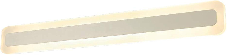 XFZ   Spiegellampe LED-Wandwaschlampe, 12w 18w 24w 28w Wandleuchte Einfache Acryl wasserdichtes Spot-Licht Badezimmerflur Indoor-Warmwei 100cm