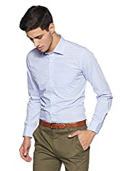 Van Heusen Mens Checkered Slim Fit Formal Shirt