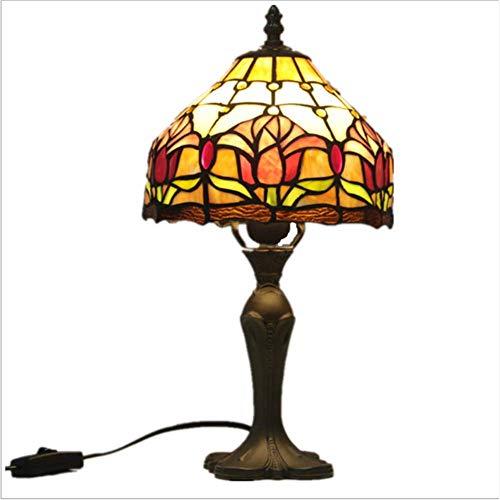 Tiffany-Stijl Tafellamp 8 Inch Tiffany-Bureaulamp, Glas-In-Lood Echt Glas, Handgemaakt Voor De Woonkamer Antiek Bureau Naast Slaapkamer