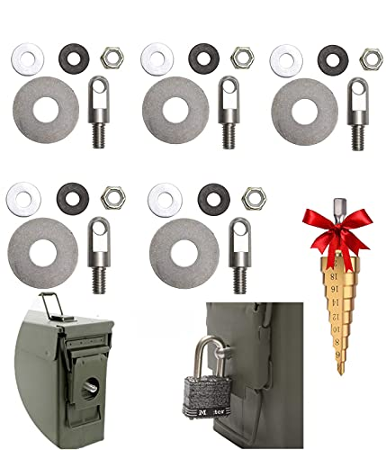 Ammo Cans Box Lock Hardware Kit Steel Suitable for 50 Cal,...
