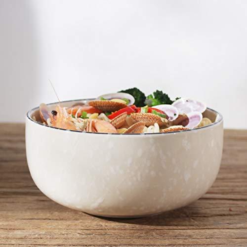 WZNING Copo de Nieve de cerámica Japonesa Vajilla, apilable fáciles de Limpiar Kitchen Ensaladas Postres Disponibles Verduras Cereales Sopas tallarines de arroz Sopa, Fruta, Postre