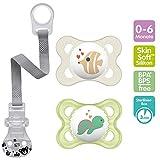 Chupete de silicona 'Skin Soft' de MAM, 0-6 meses, neutral, set de 2, incluye...