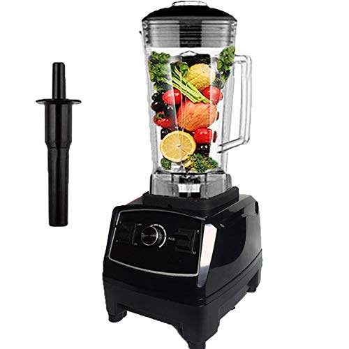 Smoothie Smart Blender, Multi-Function Smoothie Machine met Quick ijs te breken met 10-Speed ​​Control, 6-Leaf roestvrij staal Blade 2L grote capaciteit ontwerp geschikt voor het maken Smoothies Of,Black