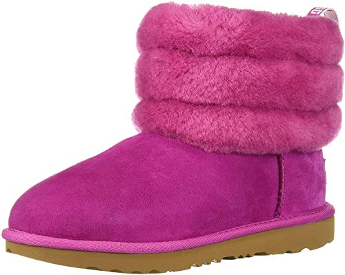 UGG Kids' Fluff Mini Quilted Boot, Fuchsia, 8 M US Toddler
