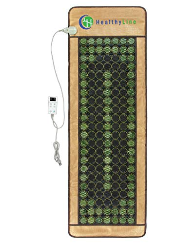 HealthyLine 3-in-1 Mesh Infrared Heating Pad - Full Body Effective Pain Relief - Flexible Mat, Adjustable Time - 154 of Jade Tourmaline Stone - 72' x 24'