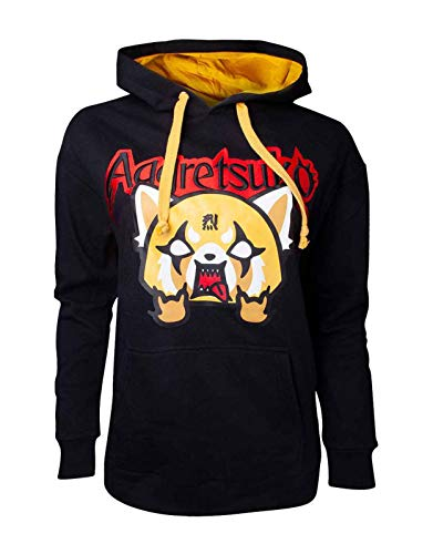 Aggretsuko - Embroidered Women's Sweater Black-S
